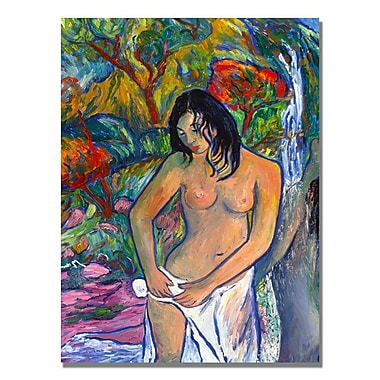 Trademark Fine Art Manor Shadian 'Bath' Canvas Art 18x24 Inches