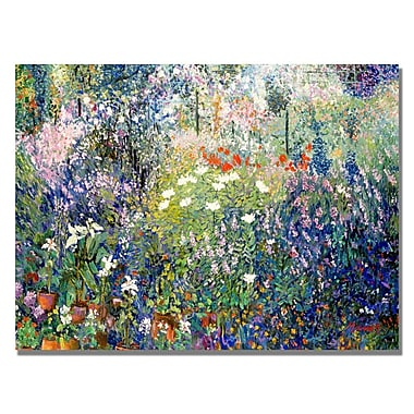 Trademark Fine Art Manor Shadian 'Garden in Maui' Canvas Art 22x32 Inches