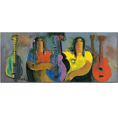 Trademark Fine Art Jimenez 'Bohemiosby Boyer' Canvas Art 10x24 Inches