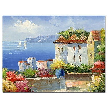 Trademark Fine Art Rio 'Mideterreanean Villa' Canvas Art 35x47 Inches