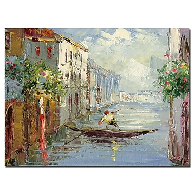 Trademark Fine Art Rio 'Gondola' Canvas Art 35x47 Inches