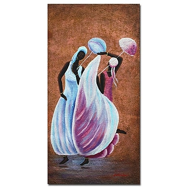 Trademark Fine Art Antonio 'Sunday Dance' Canvas Art 16x32 Inches