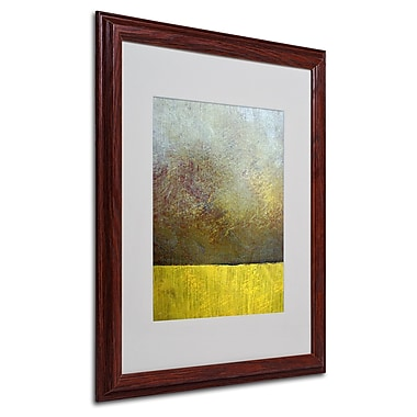 Michelle Calkins 'Earth Study II' Framed Matted Art - 16x20 Inches - Wood Frame