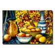 Trademark Fine Art Still Life with Oranges by Michelle Calkins-Canvas Art 24x36 Inches