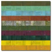 Trademark Fine Art Michelle Calkins 'Wooden Abstract V' Canvas Art, MC0139D-C2424GG