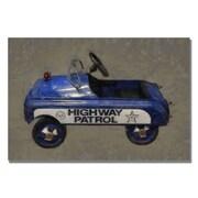 Trademark Fine Art Michelle Calkins 'Highway Patrol Pedal Car' Canvas Art