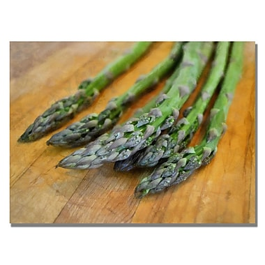 Trademark Fine Art Michelle Calkins 'Asparagus' Canvas Art