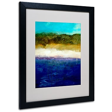 Trademark Fine Art Michelle Calkins 'Abstract Dunes Study' Matted Art Black Frame 16x20 Inches