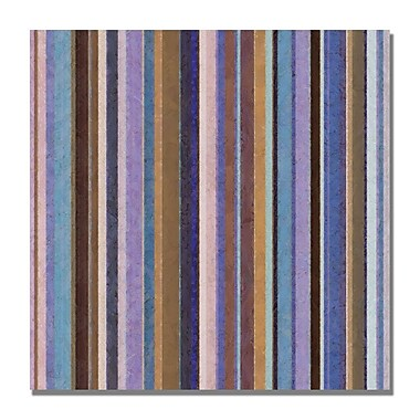Trademark Fine Art Michelle Calkins 'Comfortable Stripes II' Canvas Art 18x18 Inches