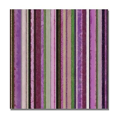 Trademark Fine Art Michelle Calkins 'Comfortable Stripes III' Canvas Art 18x18 Inches