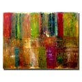 Trademark Fine Art Color Panel Abstract by Michelle Calkins-Ready to Hang
