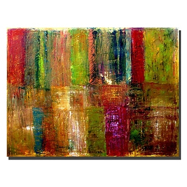 Trademark Fine Art Michelle Calkins 'Color Abstract' Canvas Art Ready to Hang 14x19 Inches