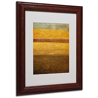 Michelle Calkins 'Earth Layers Abstract' Matted Framed Art - 11x14 Inches - Wood Frame
