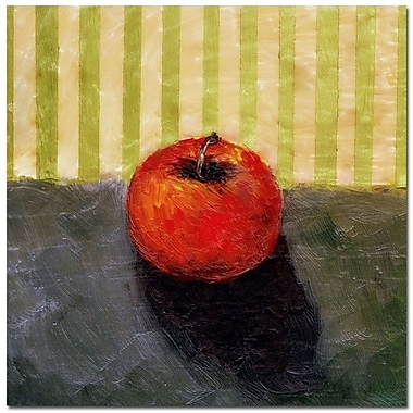 Trademark Fine Art Michelle Calkins 'Red Apple Still Life' Canvas Art 14x14 Inches