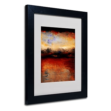 Trademark Fine Art Michelle Calkins 'Red Skies at Night' Matted Art Black Frame 11x14 Inches