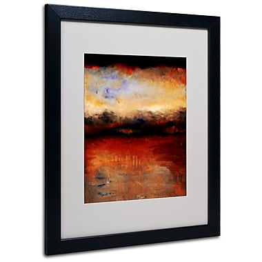 Trademark Fine Art Michelle Calkins 'Red Skies at Night' Matted Art Black Frame 16x20 Inches