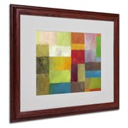 Michelle Calkins 'Abstract Color Panels 4' Matted Framed Art - 16x20 Inches - Wood Frame