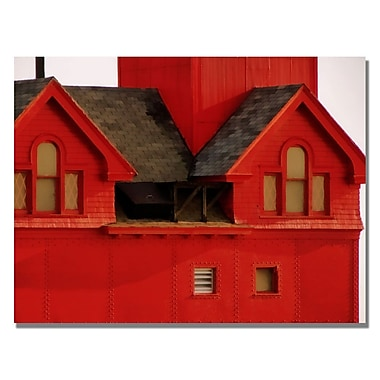 Trademark Fine Art Michelle Calkins 'Big Red Lighthouse' Canvas Art