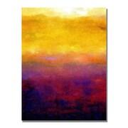 Trademark Fine Art Michelle Calkins 'Golden Sunset' Canvas Art