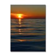 Trademark Fine Art Michelle Calkins 'Sunset over the Lake' Canvas Art
