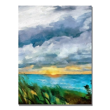 Trademark Fine Art Michelle Calkins 'Sunset over the Lake II' Canvas Art