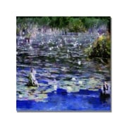 Trademark Fine Art Michelle Calkins 'Water Lilies in the River' Canvas Art
