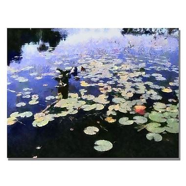 Trademark Fine Art Michelle Calkins 'Water Lilies in the River II' Canvas Art