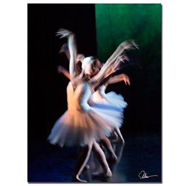 Trademark Fine Art Abstract Dancers by Martha Guerra-Canvas Art 18x24 Inches