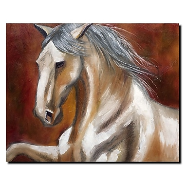 Trademark Fine Art Odyssey in White I by Michelle Moate Canvas Art 18x24 Inches