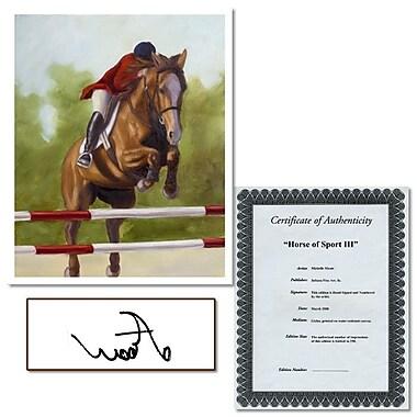 Trademark Fine Art Horse of Sport II by Michelle Moate-Canvas Art