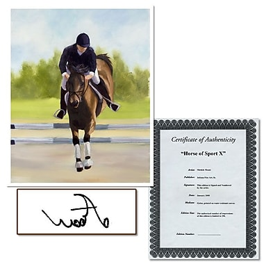 Trademark Fine Art Horse of Sport XI by Michelle Moate-Canvas Art