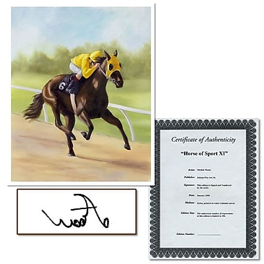 Trademark Fine Art Horse of Sport IX by Michelle Moate-Canvas Art
