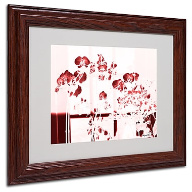Miguel Paredes 'Red Orchids' Matted Framed Art - 11x14 Inches - Wood Frame