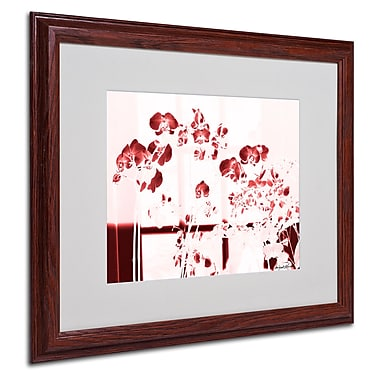 Miguel Paredes 'Red Orchids' Matted Framed Art - 16x20 Inches - Wood Frame