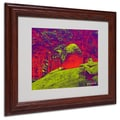 Miguel Paredes 'Enchanted Rock I' Matted Framed Art - 11x14 Inches - Wood Frame