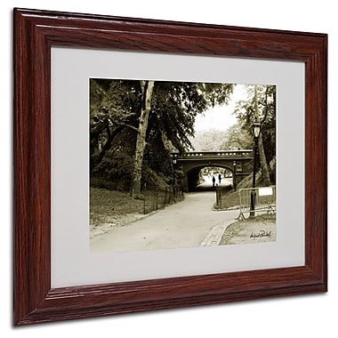 Miguel Paredes 'Passage I' Matted Framed Art - 11x14 Inches - Wood Frame