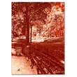 Trademark Fine Art Miguel Paredes 'Red Forest' Canvas Art 14x19 Inches