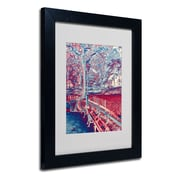 Trademark Fine Art Miguel Paredes 'Red Blue I' Matted Art Black Frame 11x14 Inches