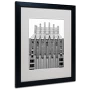 Trademark Fine Art Miguel Paredes 'Building I' Matted Art Black Frame 16x20 Inches