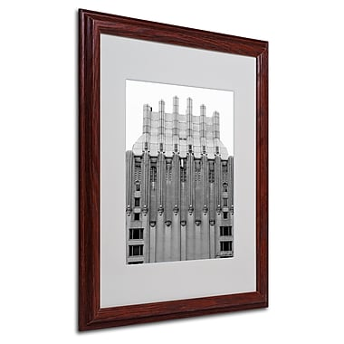 Miguel Paredes 'Building I' Matted Framed Art - 16x20 Inches - Wood Frame