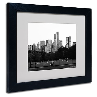 Trademark Fine Art Miguel Paredes 'Sheep's Meadow' Matted Art Black Frame 11x14 Inches
