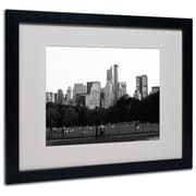 Trademark Fine Art Miguel Paredes 'Sheep's Meadow' Matted Art Black Frame 16x20 Inches
