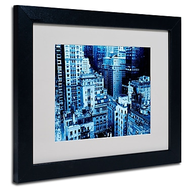 Trademark Fine Art Miguel Paredes 'Upper West Side' Matted Art Black Frame 11x14 Inches