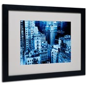 Trademark Fine Art Miguel Paredes 'Upper West Side' Matted Art Black Frame 16x20 Inches