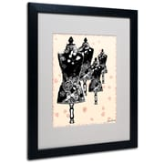 Trademark Fine Art Miguel Paredes 'Tapestry I' Matted Art Black Frame 16x20 Inches