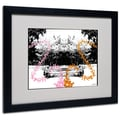 Trademark Fine Art Miguel Paredes 'Pink Orange Butterflies' Matted Art Black Frame 16x20 Inches
