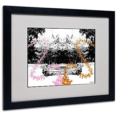 Trademark Fine Art Miguel Paredes 'Pink Orange Butterflies' Matted Art Black Frame 16x20 Inches