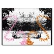 Trademark Fine Art Miguel Paredes 'Pink and Orange Butterflies' Canvas Art 14x19 Inches