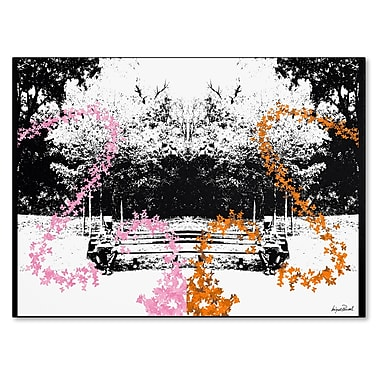 Trademark Fine Art Miguel Paredes 'Pink and Orange Butterflies' Canvas Art 30x47 Inches