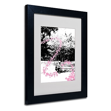 Trademark Fine Art Miguel Paredes 'Pink Butterflies' Matted Art Black Frame 11x14 Inches